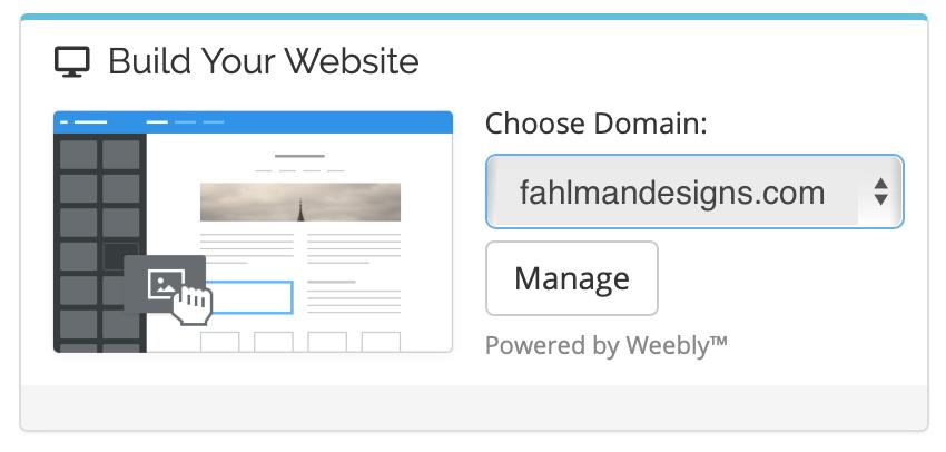 Build your Website - Fahlman Designs